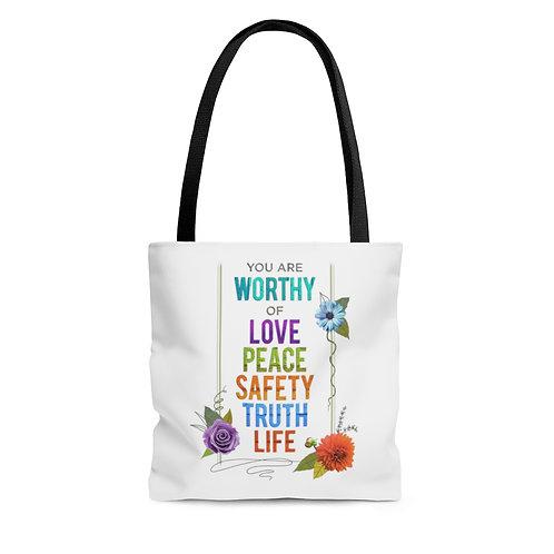 WORTHY - Tote Bag - White