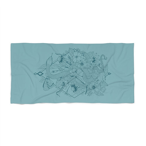 Teal Snake - Beach Towel