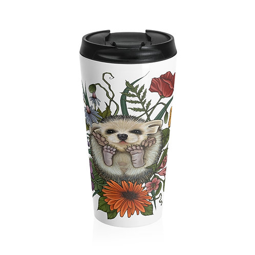Hedgehog - Steel Travel Mug