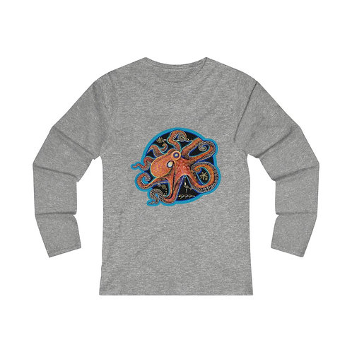 Red Octopus - Fitted LS Tee