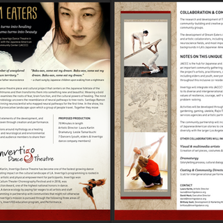 One sheet for Invertigo Dance Theater