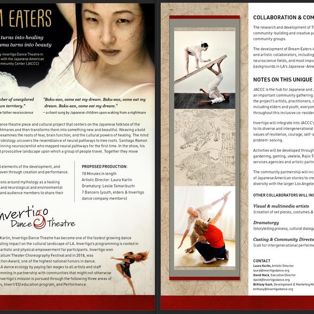 One sheet for Invertigo Dance Theater