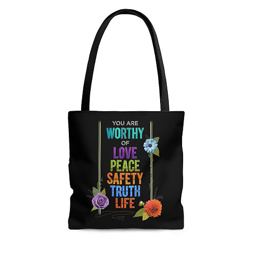 WORTHY - Tote Bag - Black