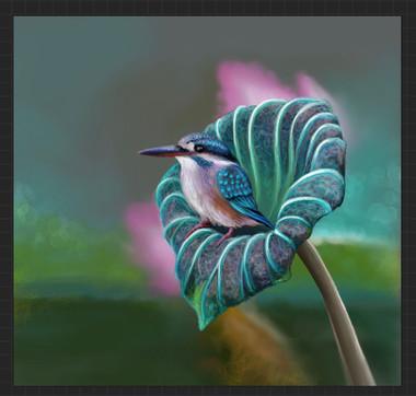 Kingfisher digital illustration