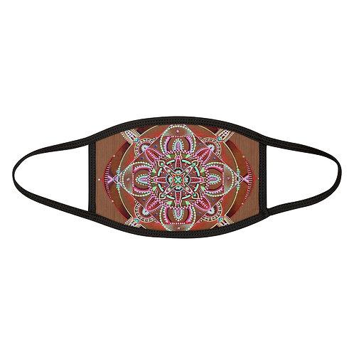 Mandala Rust - Mixed-Fabric Mask