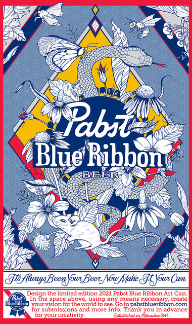 Pabst Blue Ribbon can design