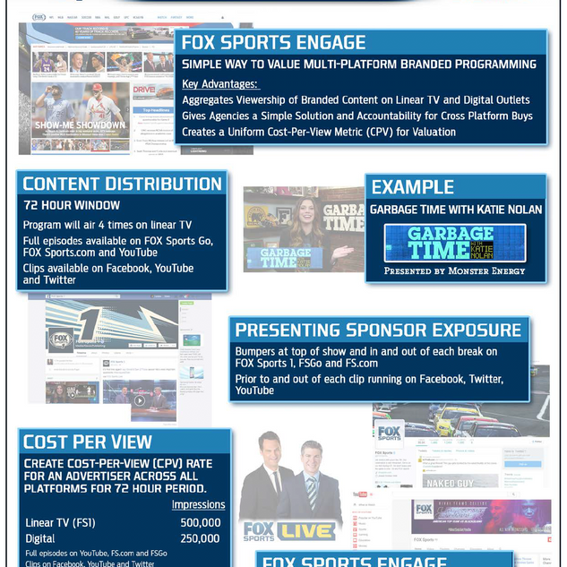 FOX Sports one sheet