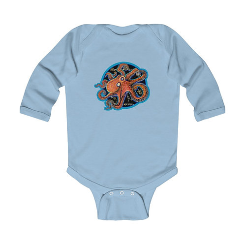 Red Octopus - LS Onesie