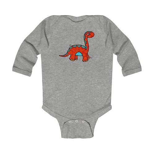 Red Dino - LS Onesie
