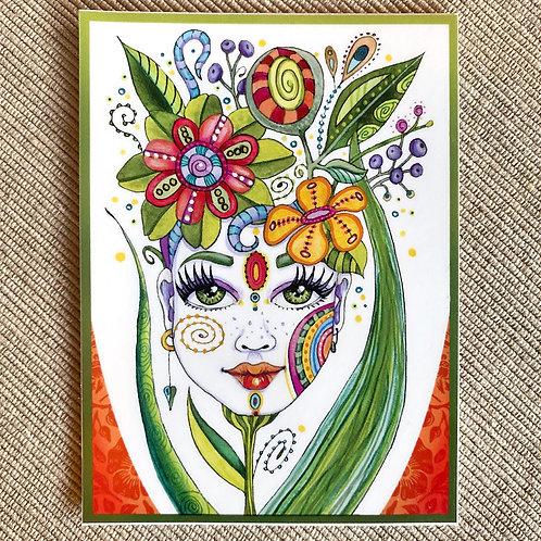 Flowerhead Sticker #1