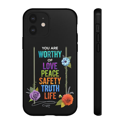 WORTHY - Phone Case - Black