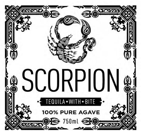 Scorpion Tequila label