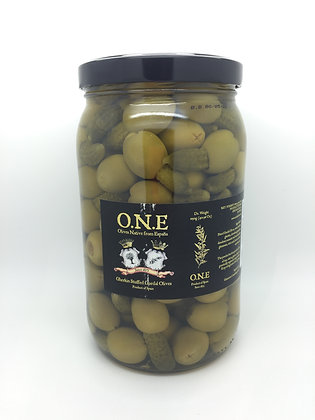O.N.E Gherkin Stuffed Gordal Olives