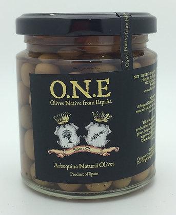 O.N.E Arbequina Natural Olives