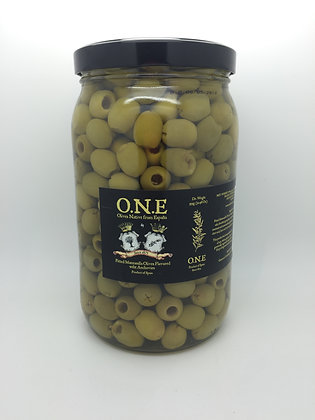 O.N.E Pitted Manzanilla Olives Flavored w/Anchovie