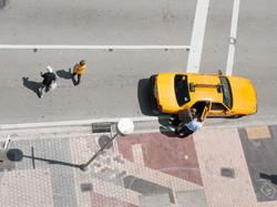 Yellow. Cab.