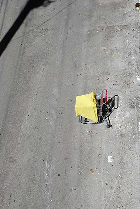 "Shopping cart in alley, South Beach, Miami, Florida, photograph titled ""A la carte"" by Laura Meckling 