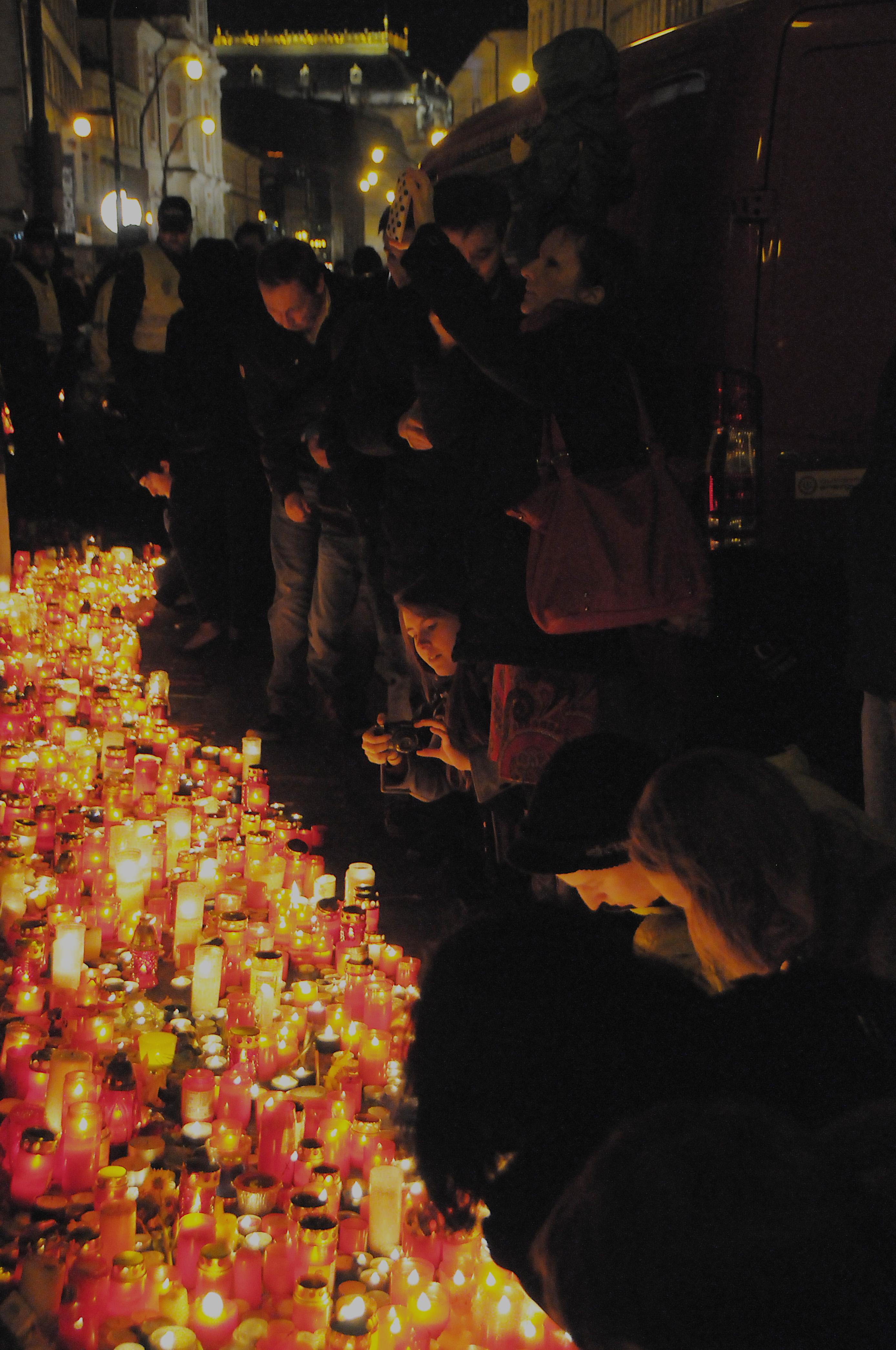 Candlelight vigile Národní Street