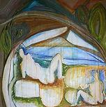 pasteland watercolors on linen canvas A 130X130cm - 2017