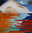 huile sur toile de lin 60 x 60 cm ONDE 4