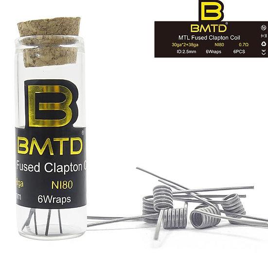 BMTD Ni80 MTL Triple Fused Clapton Coils 6pcs