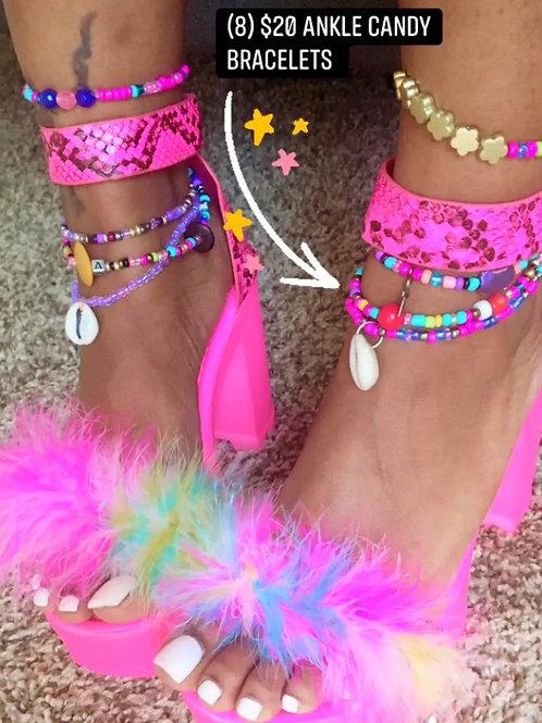 Ankle Candy Stack Bracelets