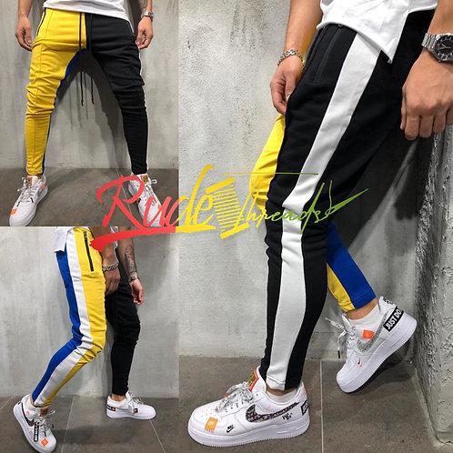 Multi color joggers