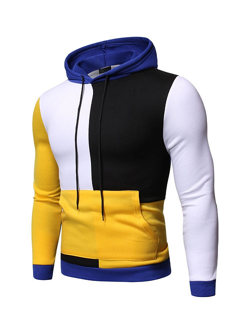 Stylish Contrast Color Hoodies