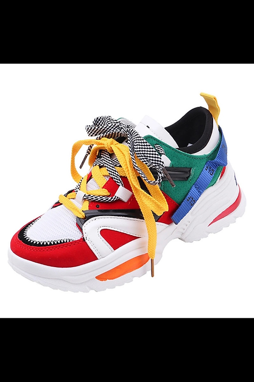 Color block fashion sneakers