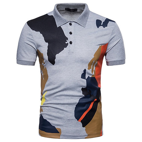 Camouflage Patter Casual Polo Shirt