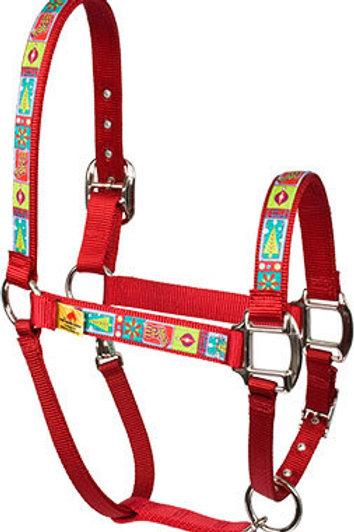 Red Haute Horse Halter - Retro Christmas