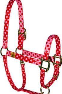 Red Haute Horse Halter - Valentine dots