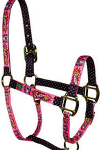 Red Haute Horse Halter - I Luv my Horse (pink)