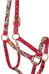 Red Haute Horse Halter - Retro Cowboy
