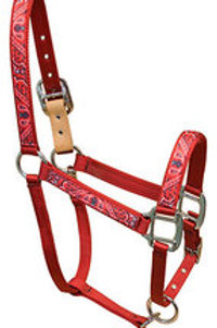 Red Haute Horse Halter - Red Bandana