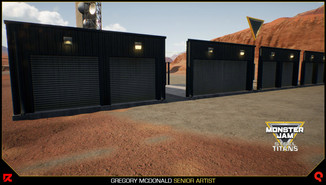 Here is example of how each blueprint can be setup to create a long building similar to a storage facility.