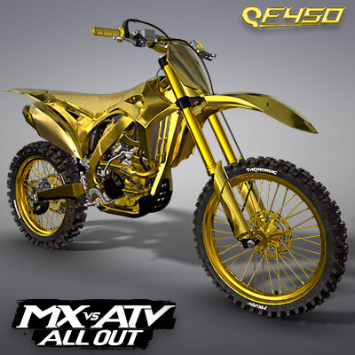 THQ NORDIC QF450 GOLD EDITION MOTOCROSS BIKE | MX VS ATV ALL OUT