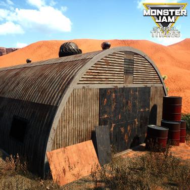 MODULAR ARCHED SHED | MONSTER JAM STEEL TITANS