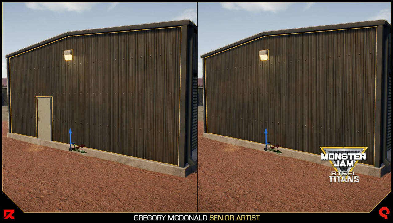 Here you can see how I gave the ability for other artists wanting to use my garage models to swap out doors and even the lights.