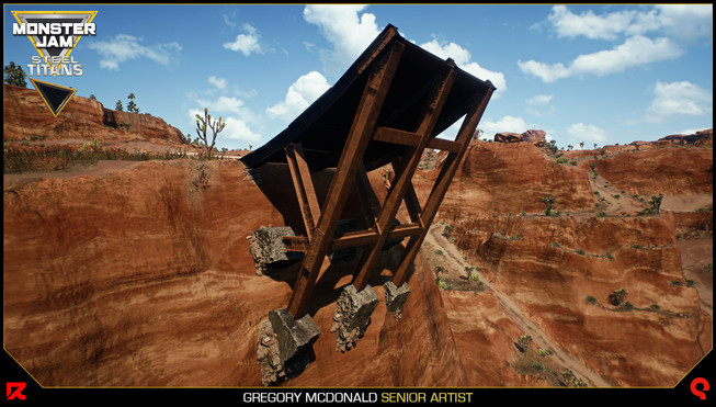 This is another screenshot of the jump with the steel beams and bolts Chris Kurash created.