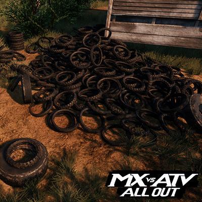DLC GOAT FARM TIRE PILES | MX VS ATV ALL OUT