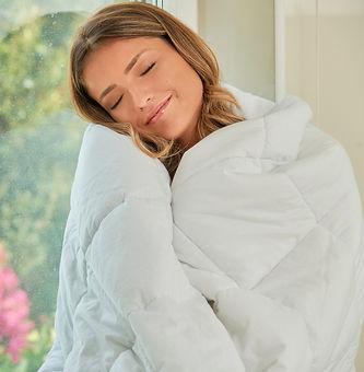 Blanky cobertor pesado - a dois branco weighted blanket