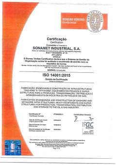 Certificado ISO14 001-2015 (Sonamet)_Pag