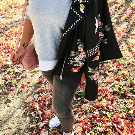 Hello Fall: Leather Jackets & Sneakers