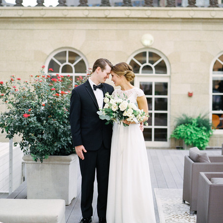 Jordan and Hunter's Gold and Ivory Wedding at The Venue at 400 North Ervay