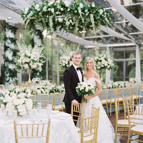 Meredith and Parker's Tented Arlington Hall Wedding
