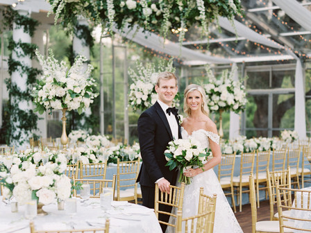 Meredith and Parker's Whimsical Tented Arlington Hall Wedding