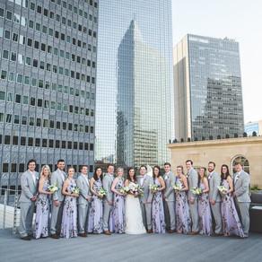Lynlee and Brennan Lavender Roofrop Weddings