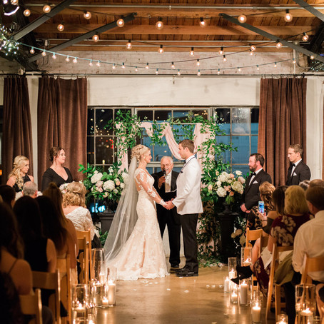 Chelsey and Trey's Black and Rose Gold Hickory Street Annex Wedding