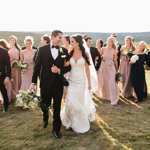 Anna and Brady Hackfeld's Sunset Wedding at Dove Ridge Vineyard